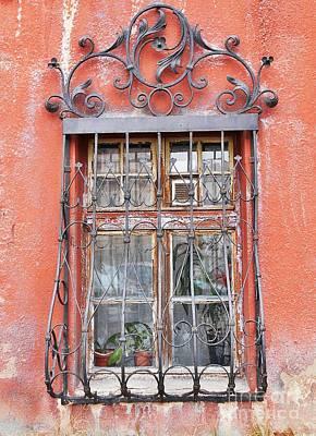 Photograph - Vintage Window Grates by Erika H