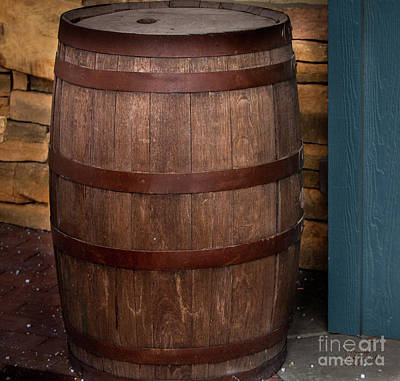 Photograph - Vintage Wine Barrel by David Millenheft