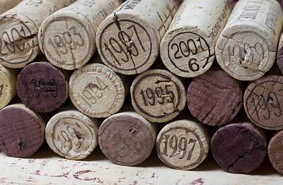 Photograph - Vintage Wine Corks by Frank Tschakert