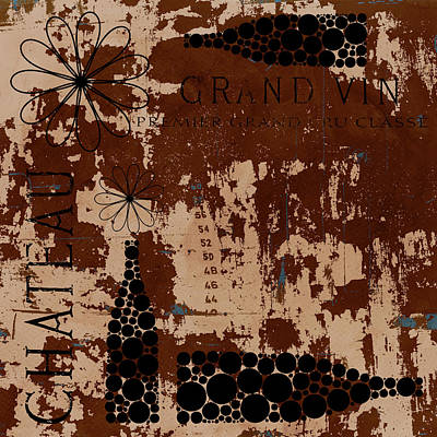 Grunge Mixed Media - Vintage Wine by Frank Tschakert