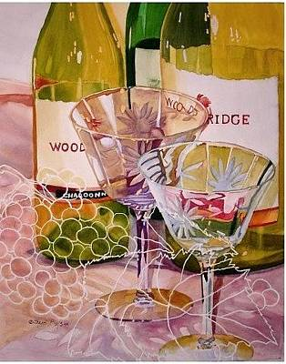 Painting - Vintage Wine Glasses by Sherri Bails