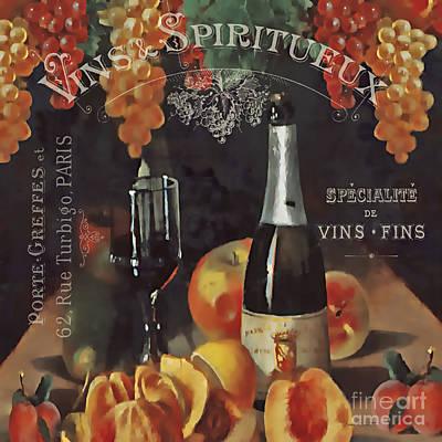 Vintage Wine-jp3187 Art Print by Jean Plout