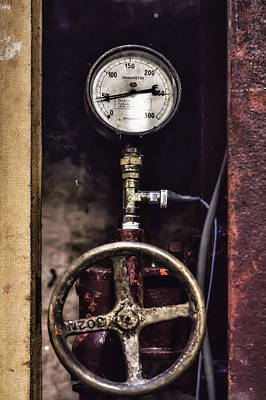 Vintage Wine Making Gauges  Art Print by Georgia Fowler
