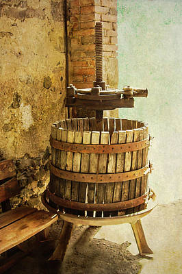 Photograph - Vintage Wine Press by Sandra Selle Rodriguez