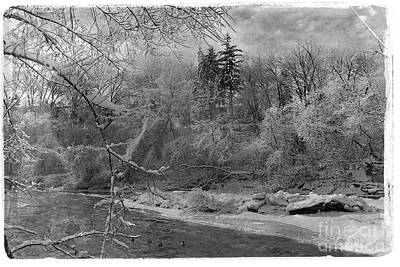 Photograph - Vintage Winter River by Nina Silver