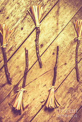 Cleanup Photograph - Vintage Witches Broomsticks by Jorgo Photography - Wall Art Gallery