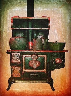 Photograph - Vintage Wood Stove by Modern Art
