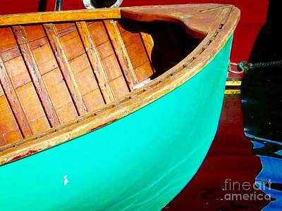 Photograph - Vintage Wooden Boat  by Susan Garren