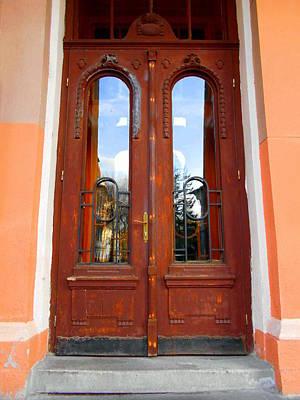 Photograph - Vintage Wooden Door  by Erika H