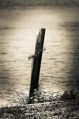 Photograph - Vintage Wooden Post  by Debra Forand