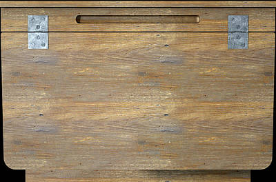 Desk Digital Art - Vintage Wooden School Desk Closeup by Allan Swart