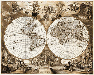 Ancient world map art fine art america ancient world map wall art photograph vintage world map sepia by delphimages photo gumiabroncs Gallery