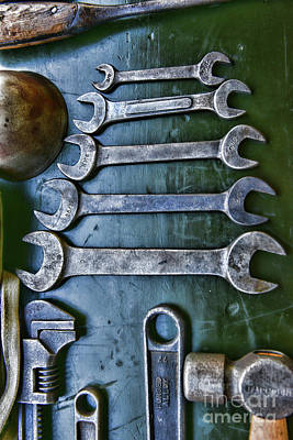 Photograph - Vintage Wrenches by Paul Ward