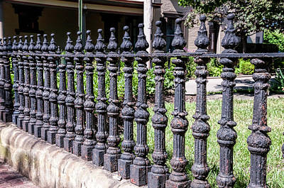 Photograph - Vintage Wrought Iron Fence by Phyllis Taylor