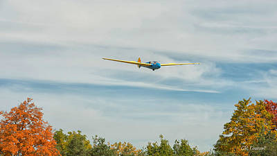 Photograph - Vintage Wwii Glider by CR Courson