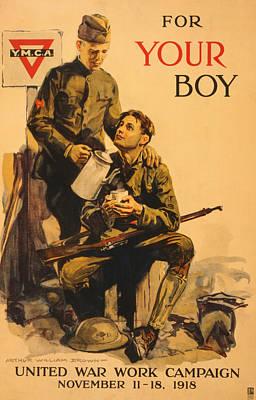 Painting - Vintage Ymca Poster by Vintage Pix