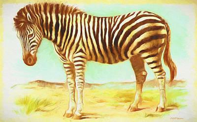 Painting - Vintage Zebra - Painting by Ericamaxine Price