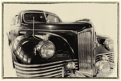 Photograph - Vintage Zil In Sepia, Framed by Vyacheslav Isaev