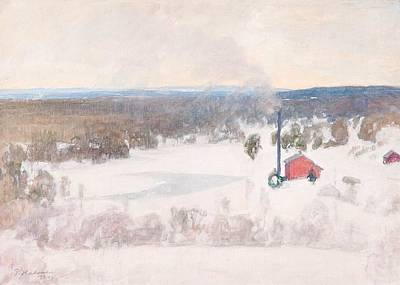 Vinter View From Outokump Art Print by MotionAge Designs