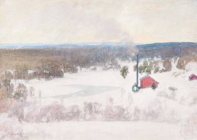 Pekka Wall Art - Painting - Vinter View From Outokumpu by Pekka Halonen