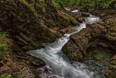 Photograph - Vintgar Gorge Rapids - Slovenia by Stuart Litoff