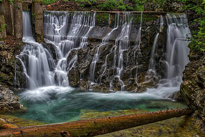 Photograph - Vintgar Gorge Waterfall - Slovenia by Stuart Litoff