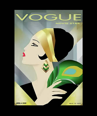 Photograph - Vinttage Vogue Cover April 1929 by Tom Prendergast