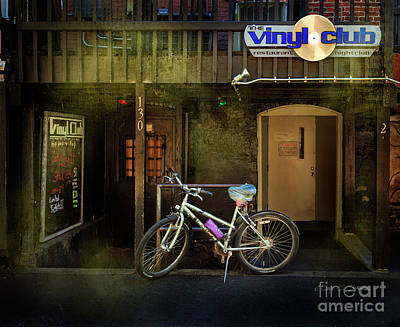 Photograph - Vinyl Club Bicycle by Craig J Satterlee