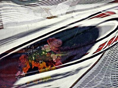 Photograph - Vinyl Curtain And Flowers 3 by Sarah Loft