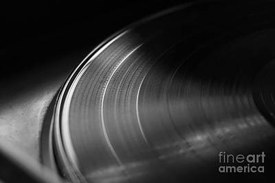 Vinyl Record On A Turntable. Memory And Nostalgia Print by Angelo DeVal