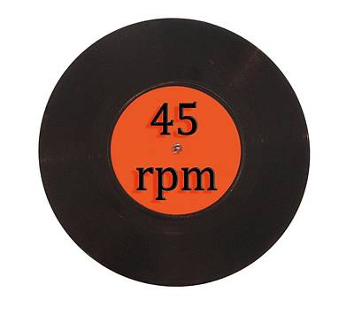 Digital Art - Vinyl Record Vintage 45 Rpm Single by Tom Conway