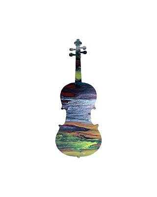 Music Themed Art Painting - Viola by Mordax Furittus