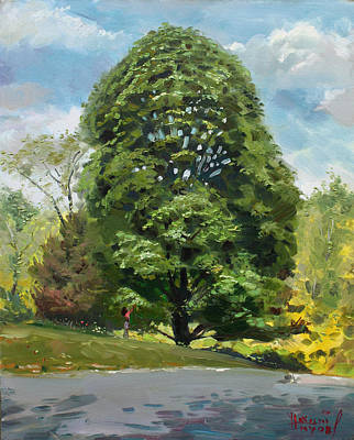 With Painting - Viola S Tree by Ylli Haruni