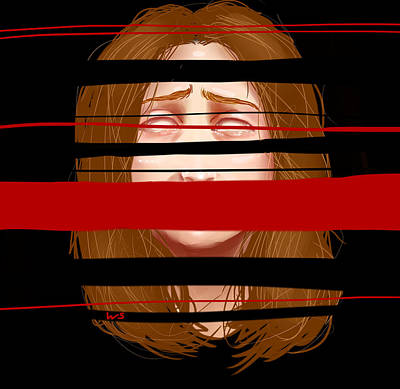 Digital Art - Violator Of The Terms Of Service  by Willow Schafer