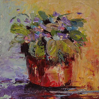 Painting - Violet 6 Squared by Carol Berning