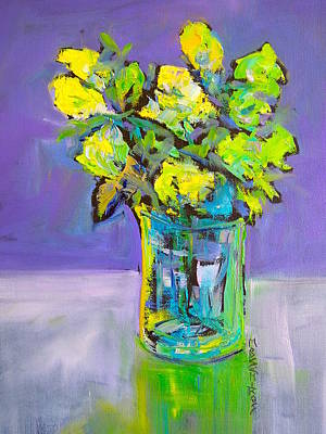Painting - Violet And Lime by Mary Schiros