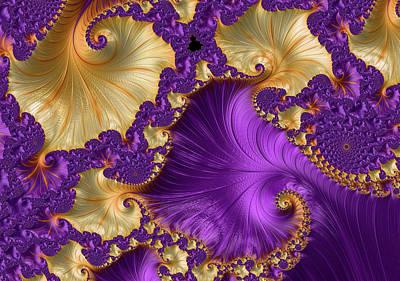 Digital Art - Violet And Orange Delight Abstract by Georgiana Romanovna
