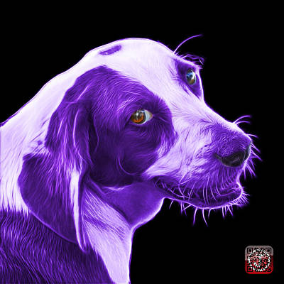 Painting - Violet Beagle Dog Art- 6896 - Bb by James Ahn