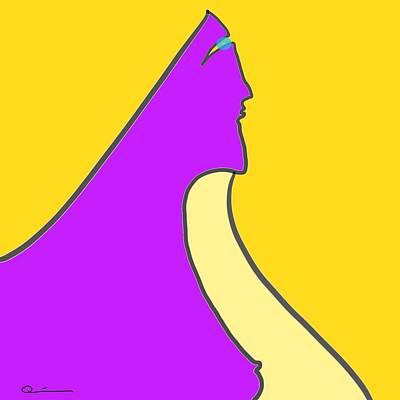 Violet Blonde Art Print