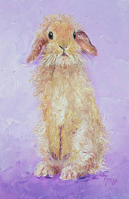 Painting - Violet Bunny by Jan Matson