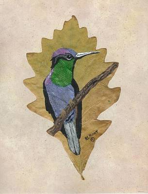 Painting - Violet Crowned Hummingbird by Ralph Root