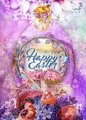 Painting - Violet Easter by Mo T