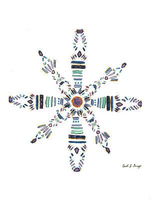Oneness Painting - Violet Flame Mandala by Carol Denego