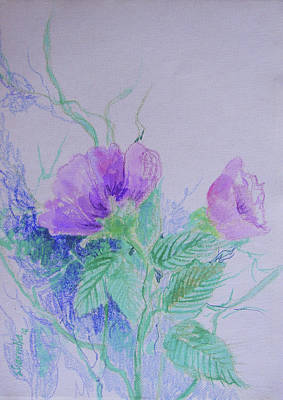 Violet Flowers Art Print by Sharmila L