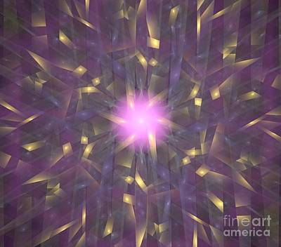 Violet Gold Bamboo Art Print