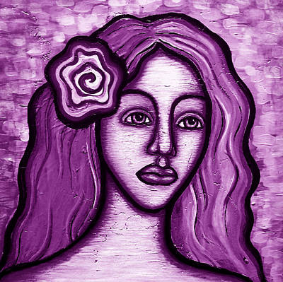 Violet Lady Art Print by Brenda Higginson