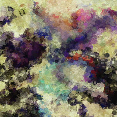 Art Print featuring the painting Violet Landscape Painting by Ayse Deniz
