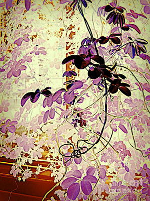 Digital Art - Violet Leaves by Nancy Kane Chapman