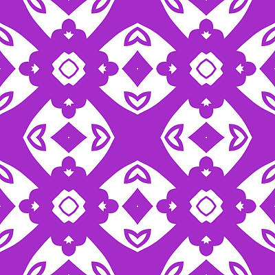 Digital Art - Violet Modern Decor Design by Georgiana Romanovna