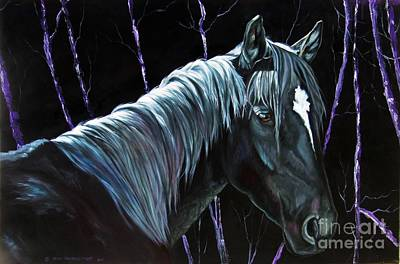 Painting - Violet Moonlight by Heidi Parmelee-Pratt